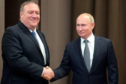 Госдеп рассказал овстрече Путина иПомпео