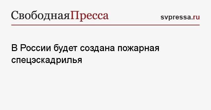 В России будет создана пожарная спецэскадрилья