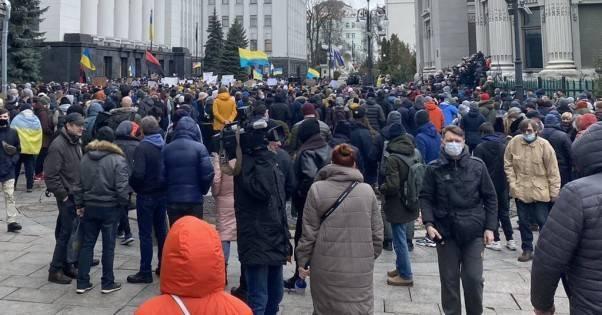 В Киеве проходит массовый протест в поддержку Стерненко под Офисом президента (ФОТО)