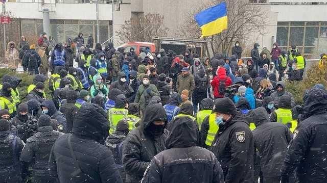 «Нет съезду судейской нечести!»: в Киеве проходит акция протеста