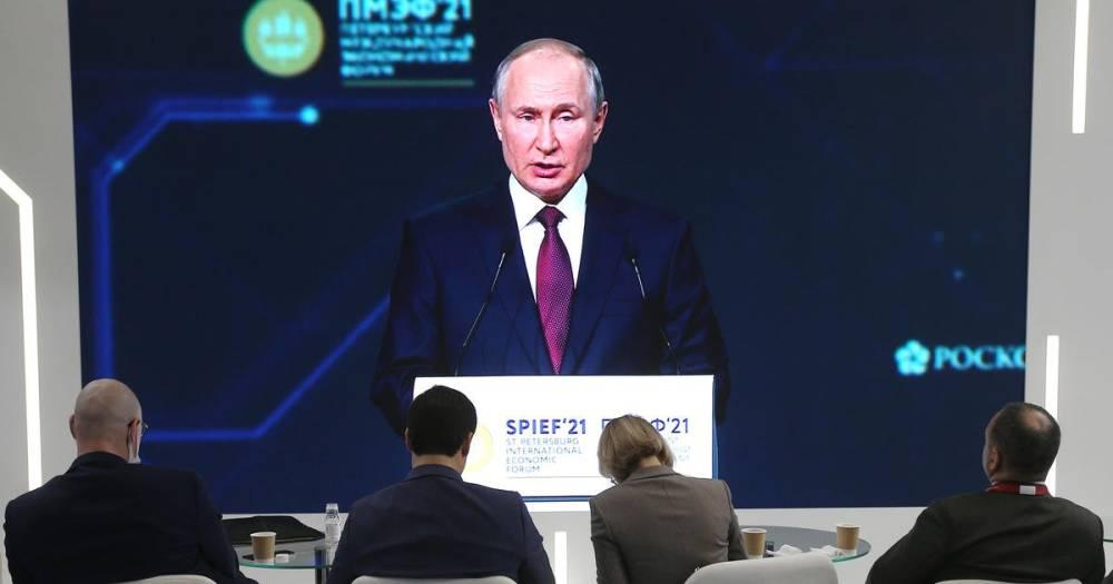 Путин назвал темы, которые намерен обсудить на встрече с Байденом