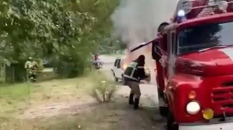 В Пензенской области женщина-водитель подожгла «Оку»