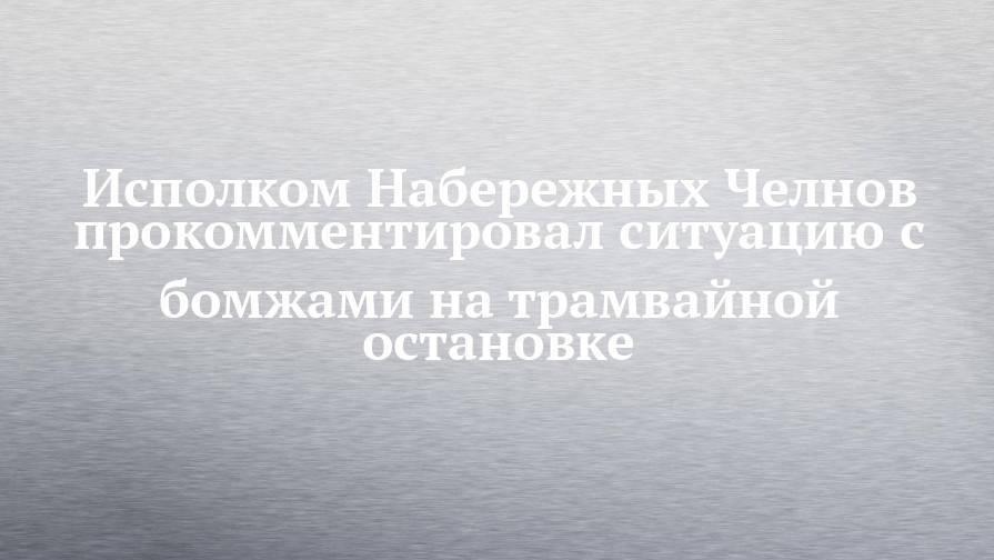 Исполком Набережных Челнов прокомментировал ситуацию с бомжами на трамвайной остановке