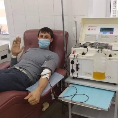 Александр Бессмертных стал донором антиковидной плазмы