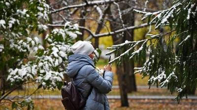 В регионах Центральной России ожидается снег