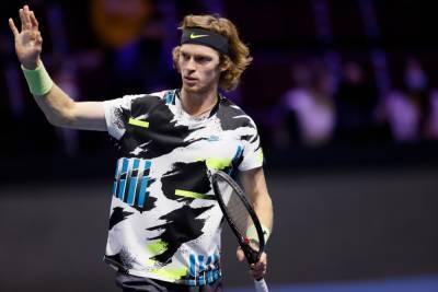 Россиянин Рублев вышел в финал теннисного турнира в Петербурге