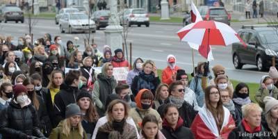 Партизанский марш в Беларуси сегодня 18.10.2020, фото, видео - ТЕЛЕГРАФ