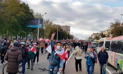В Минске люди вышли на «Партизанский марш» — фото, видео