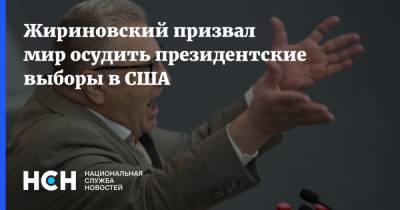 Жириновский призвал мир осудить президентские выборы в США