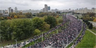 В Минске более 100 тысяч людей требуют от Лукашенко выполнения народного ультиматума — фото