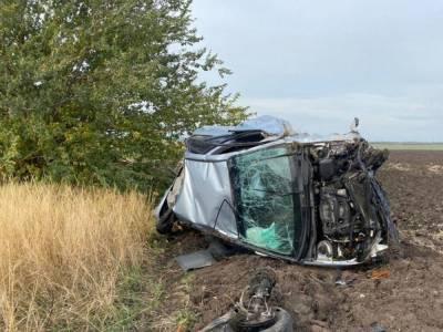 В Запорожской области пьяная молодая женщина погибла за рулем Kia