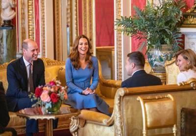 Принц Уильям с супругой встретились с Владимиром Зеленским в Букингемском дворце