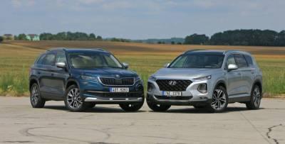 Skoda Kodiaq и Hyundai Santa Fe: на чем ездить дешевле?