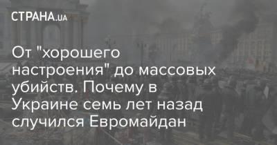 """От """"хорошего настроения"""" до массовых убийств. Почему в Украине семь лет назад случился Евромайдан"""