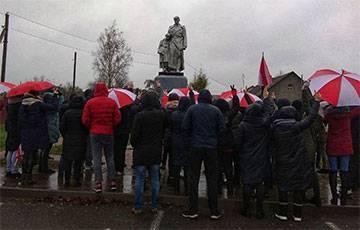 Жители Дзержинска почтили память героя Беларуси Романа Бондаренко