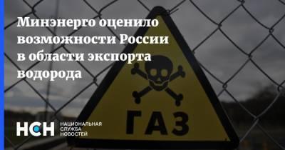 Минэнерго оценило возможности России в области экспорта водорода