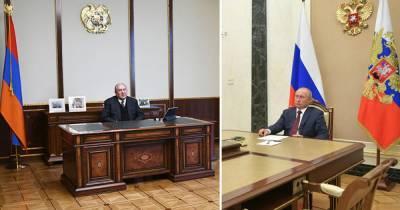 Саркисян попросил Путина помочь вернуть пленных из Азербайджана