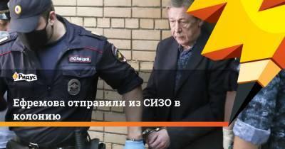 Ефремова отправили из СИЗО в колонию