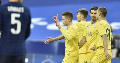 Украина удержалась в топ-25 футбольных сборных планеты по итогам 2020 года