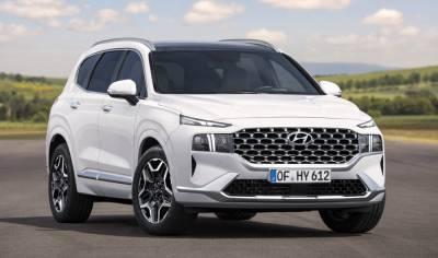 Hyundai назвал цены на кроссовер Hyundai Santa Fe 2021 модельного года