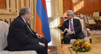 Армен Саркисян встретился с третьим президентом Армении Сержем Саргсяном