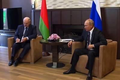 Кадры со встречи Путина и Лукашенко растащили на мемы