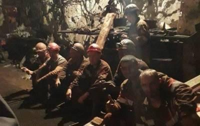 Бастующих под землей шахтеров в Кривом Роге все меньше