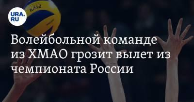 Волейбольной команде из ХМАО грозит вылет из чемпионата России. Спортсменам не хватает денег