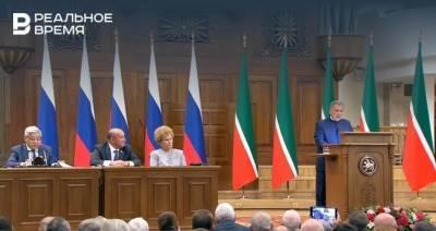 Минниханов завершил послание Госсовету Татарстану
