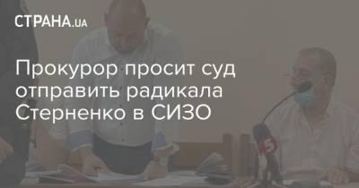 Прокурор просит суд отправить радикала Стерненко в СИЗО