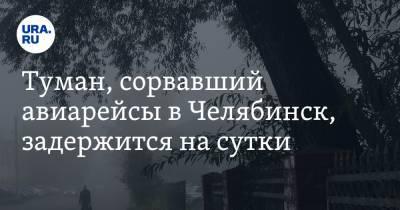 Туман, сорвавший авиарейсы в Челябинск, задержится на сутки. ФОТО