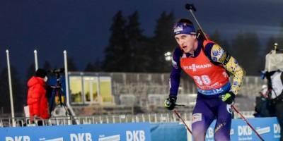 Пидручный попал в топ-10 спринта на этапе Кубка мира по биатлону в Оберхофе