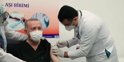 Эрдоган привился от коронавируса китайской вакциной, которую закупает Украина