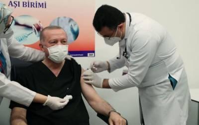 Эрдоган получил первую прививку от коронавируса