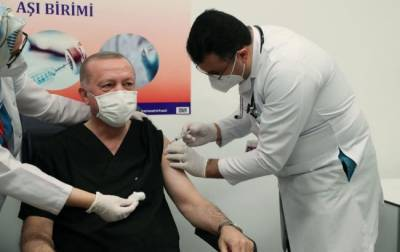 Эрдоган сделал прививку против COVID-19