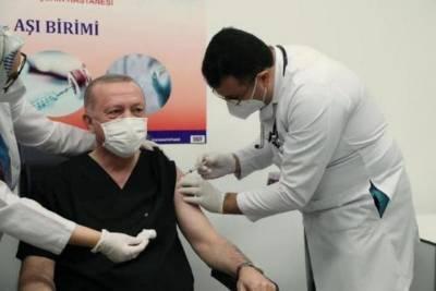 Эрдогану сделали прививку от COVID-19