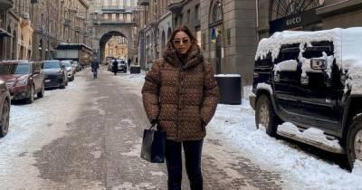 Ани Лорак приехала в Киев и показала, как по морозной столице гуляла