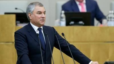 Володин пообещал наказать российских депутатов с двойным гражданством