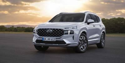 Обновленный кроссовер Hyundai Santa Fe одобрен в РФ с новым двигателем