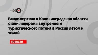 Владимирская и Калининградская области стали лидерами внутреннего туристического потока в России летом и зимой
