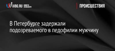В Петербурге задержали подозреваемого в педофилии мужчину