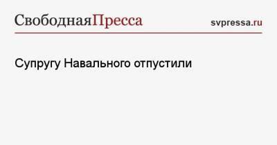 Супругу Навального отпустили