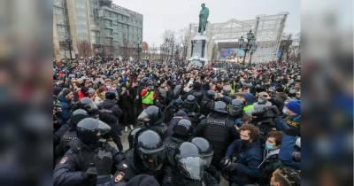 Протесты в России: полиция выпустила супругу оппозиционера Навального
