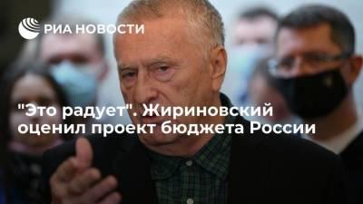 Жириновский: ЛДПР радует, что почти треть бюджета России уйдет на социальные расходы