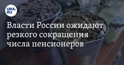 Власти России ожидают резкого сокращения числа пенсионеров. Скрин