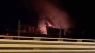 Пожар на нефтебазе в Рузском районе локализовали
