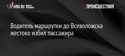 Водитель маршрутки до Всеволожска жестоко избил пассажира