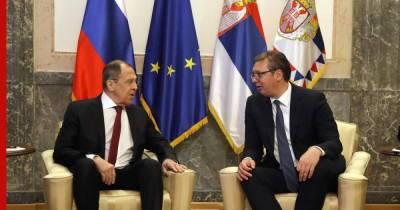 Встреча главы МИД Сергея Лаврова с президентом Сербии Александром Вучичем. Главное