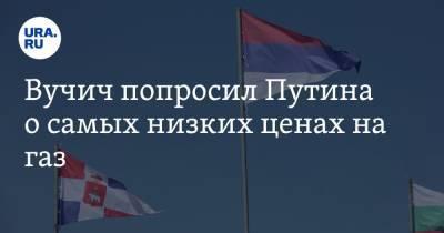 Вучич попросил Путина о самых низких ценах на газ