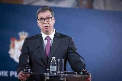 Глава МВД Сербии: главе республики Вучичу угрожает опасность